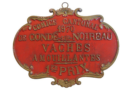 French Cow Medal, 1970