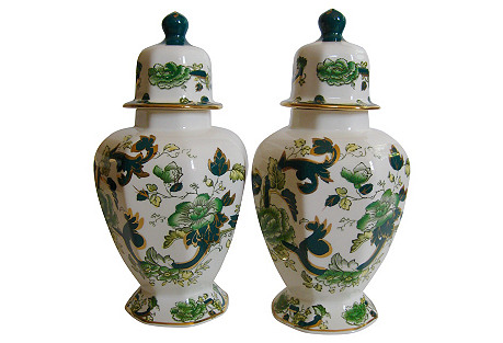 Mason's English Ironstone Ginger Jars