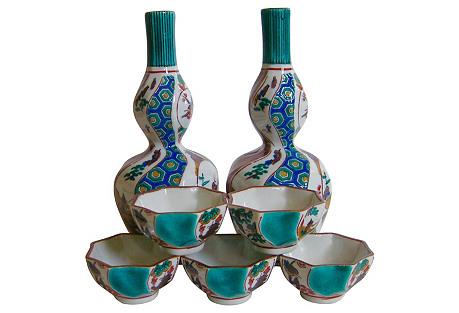 Japanese Porcelain Sake Set