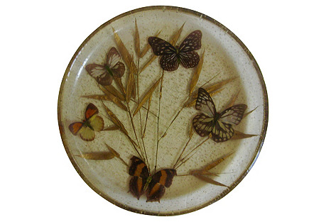 1960s Butterfly Serving Tray