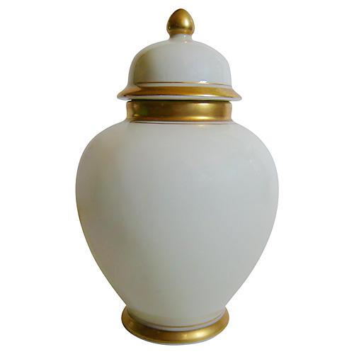 Gilt Porcelain Ginger Jar