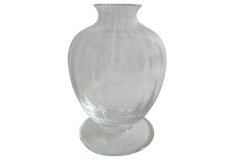 Baccarat Crystal Pedestal Vase w/Box