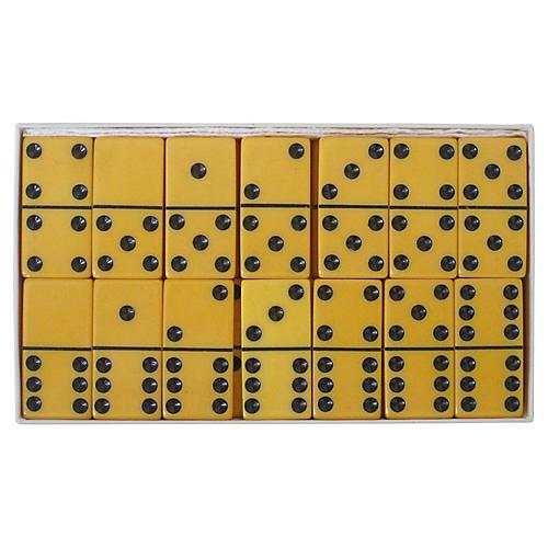 Butterscotch Domino Set in Box