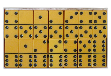 Butterscotch Domino Set in Box