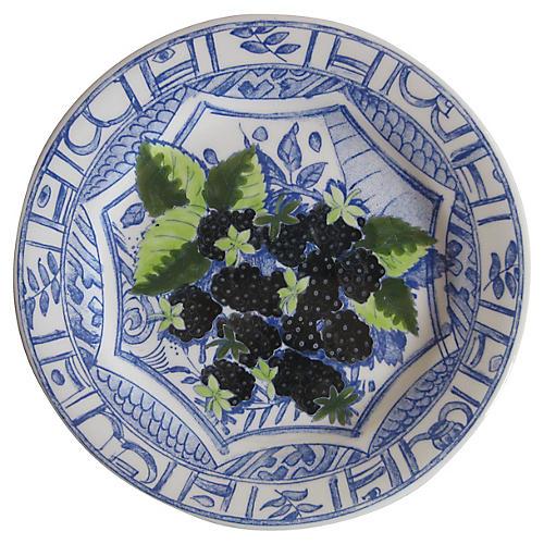 French Blackberries Plate