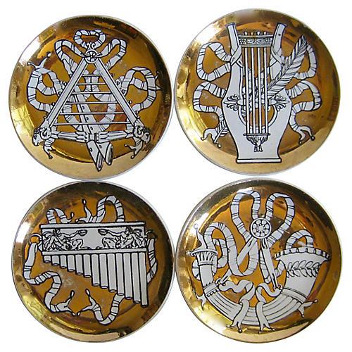 Fornasetti Musicalia Coasters, S/4