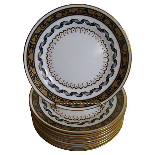 Ginori Italian Porcelain Plates, S/8