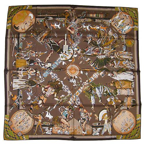 Hermès Danses Indiens Scarf w/Box