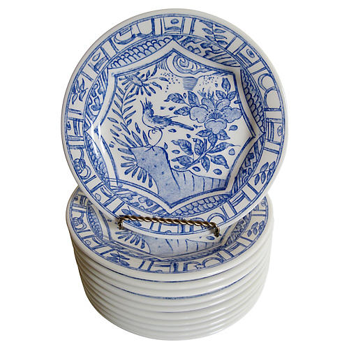 Gien French Faience Plates, S/11