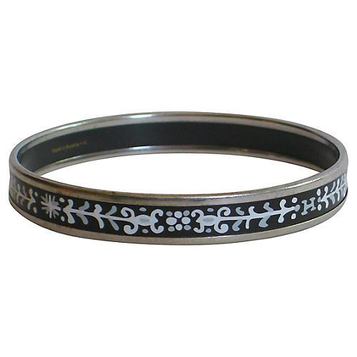 Hermès Enameled Bangle Bracelet w/ Box