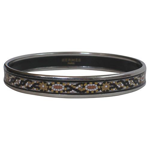 Hermès Enameled Bangle Bracelet w/ Pouch