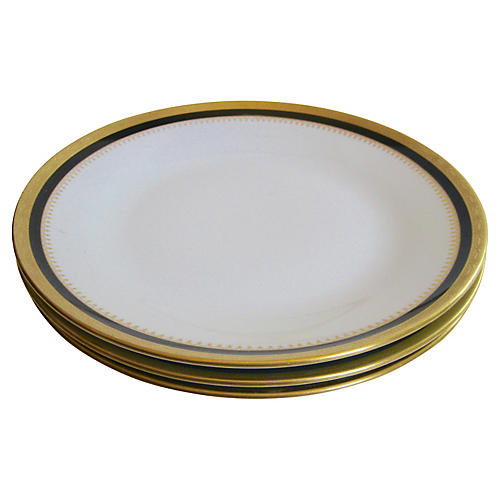 GInori Italian GIlt Dinner Plates S/3