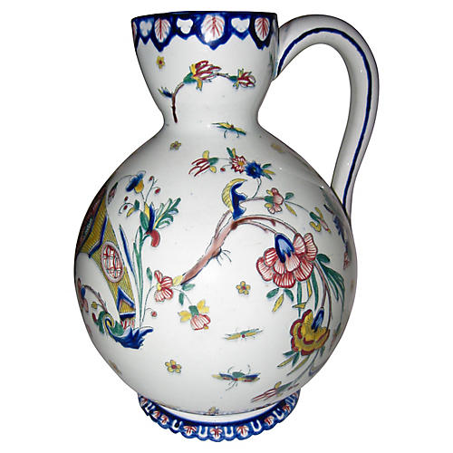 19th C. French Faience Pitcher