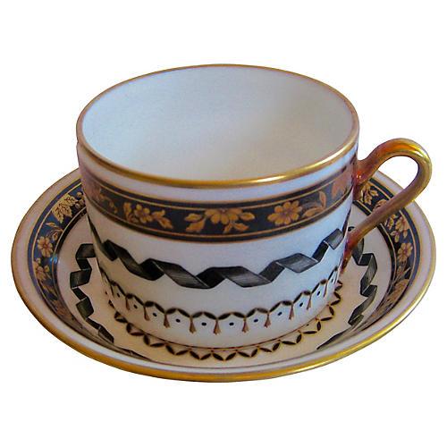 Ginori Italian Porcelain Cup & Saucer