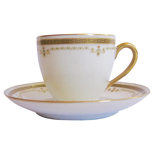 Bernardaud Limoges French Demitasse Set