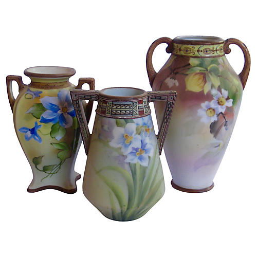 Early 1900s Japanese Vases S/3