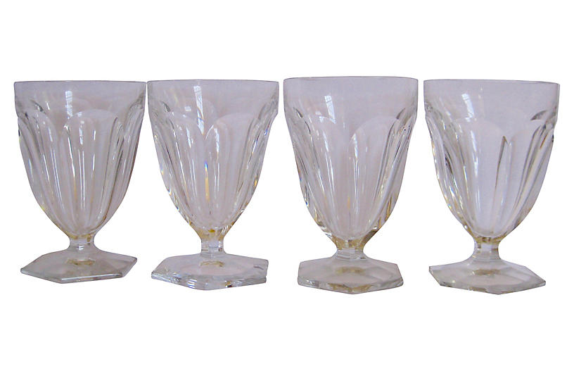 Baccarat French Crystal Glasses, S/4