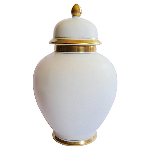 Gilt Porcelain Ginger Jar
