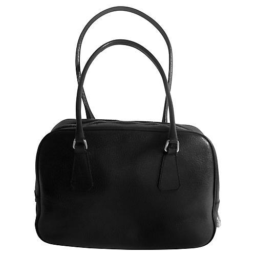 Prada Black Leather Satchel Bag