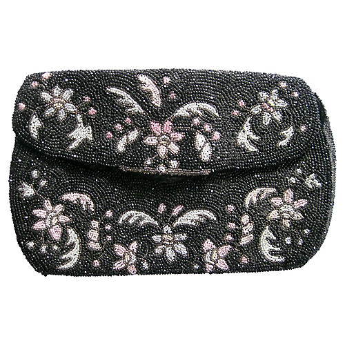1940s French Beaded Evening Bag