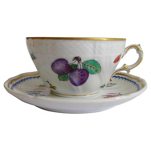 Ginori Porcelain Cup & Saucer