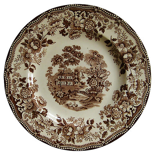 English Staffordshire ClariceCliff Plate