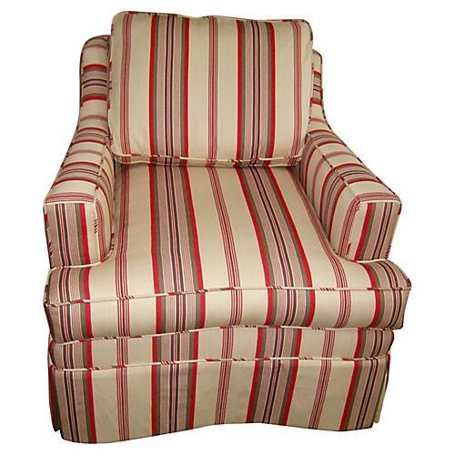 Baker Chair w/ Ticking Stripe, 1964