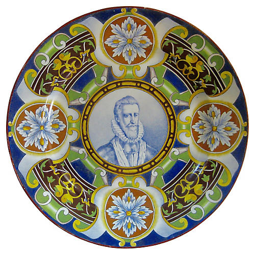 Large 19th C. French Faience Platter