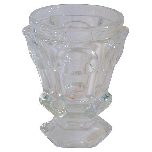 Baccarat Faceted Pedestal Vase