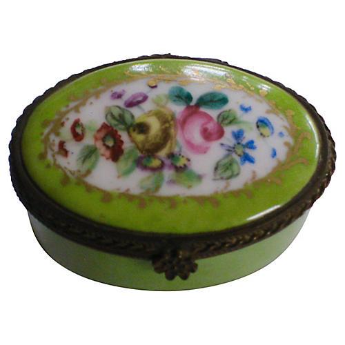 Le Tallec French Porcelain Box, 1946
