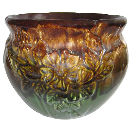 1940s American Pottery Cachepot