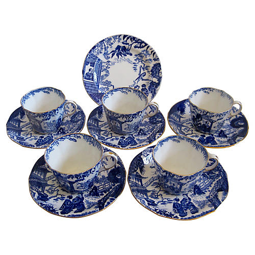 English Porcelain After Dinner Set