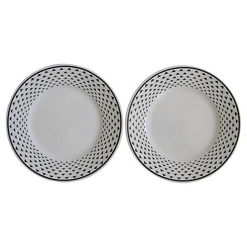 Ginori Italian Porcelain Plates, S/2