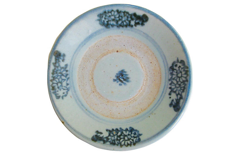 Antique Chinese Stoneware Plate