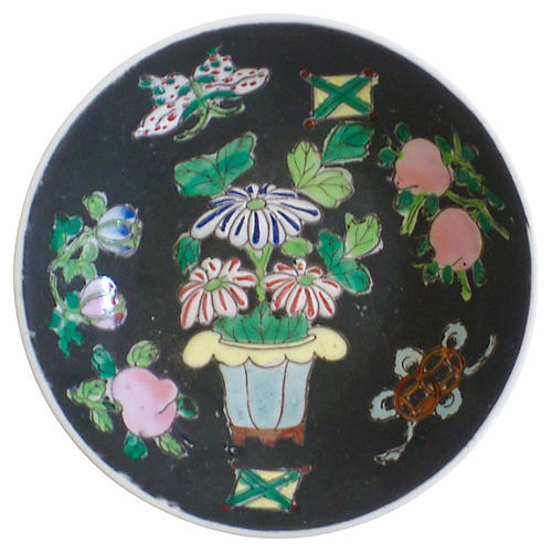 Porcelain Chinoiserie Tray