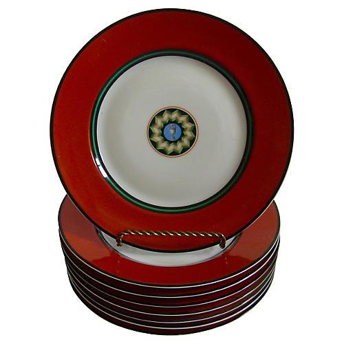 Puiforcat Limoges Pompei Plates, S/8