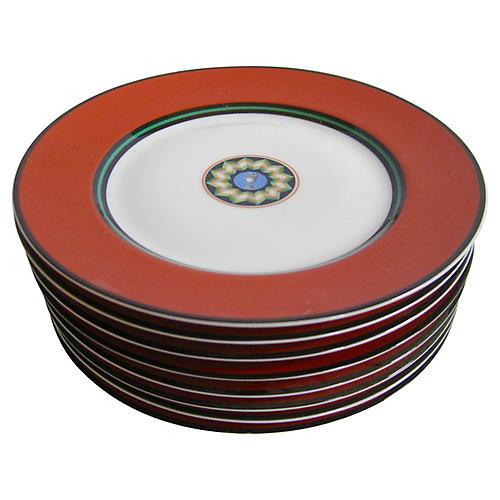 Puiforcat Limoges Porcelain Plates S/8