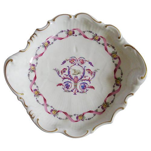 Ginori Italian Porcelain Scalloped Dish