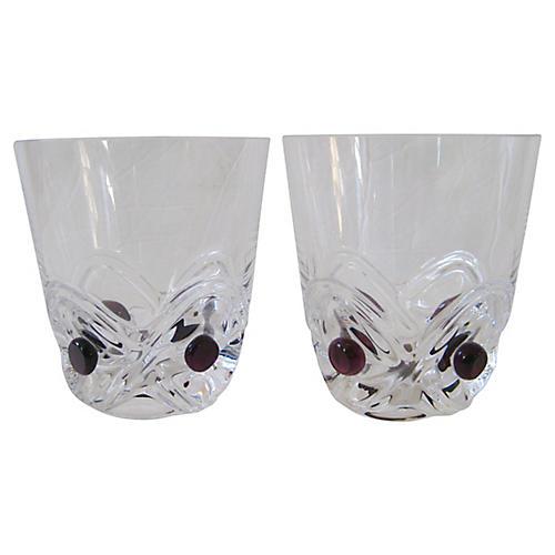 Lalique French Art Deco Glasses, S/2