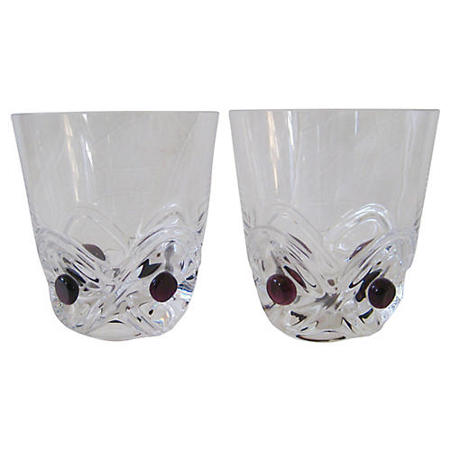 Lalique French Art Deco Glasses, S/2
