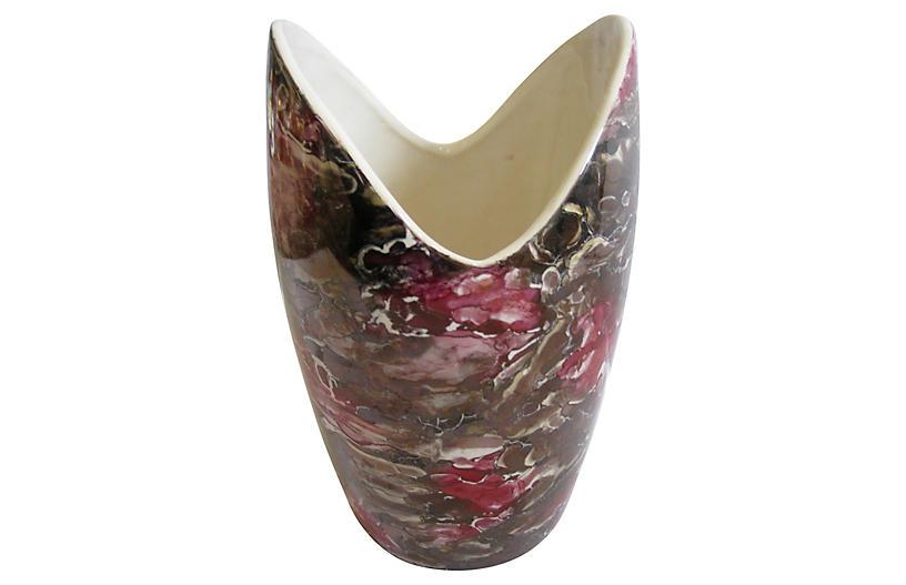 1960s McCoy Marble Glaze Vases S/2