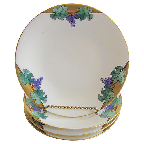 Early 1900s Hand-Painted Limoges Plates