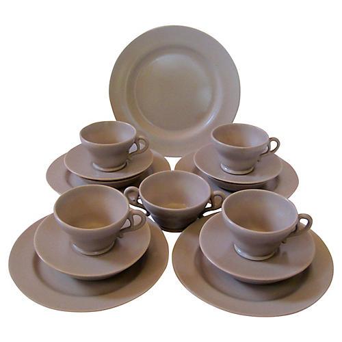 Gladding McBean Breakfast Set, Svc for 4
