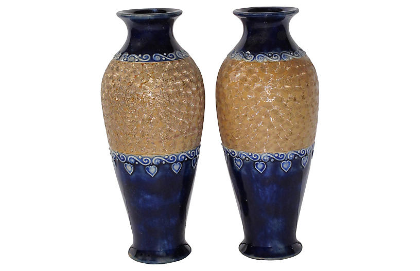 Early 1900s Royal Doulton English Vases