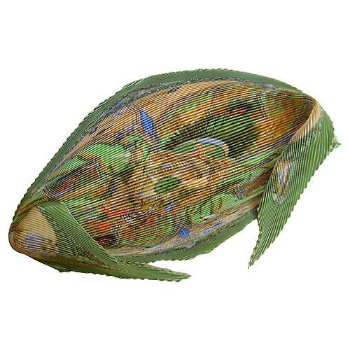 Hermès Amazonia Pleated Scarf