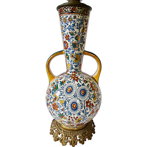 Gien French Faience Lamp