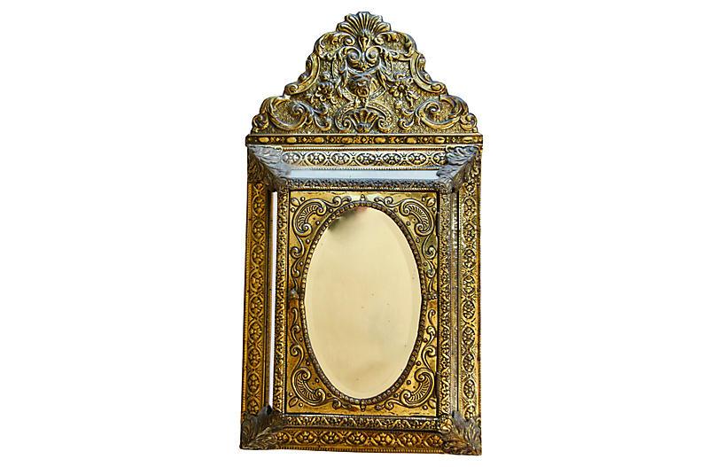 Antique Mirrored Key Safe