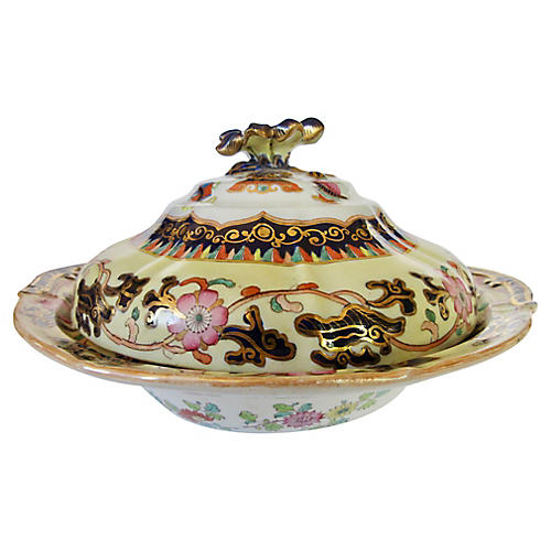 English Ironstone Tureen, C. 1840