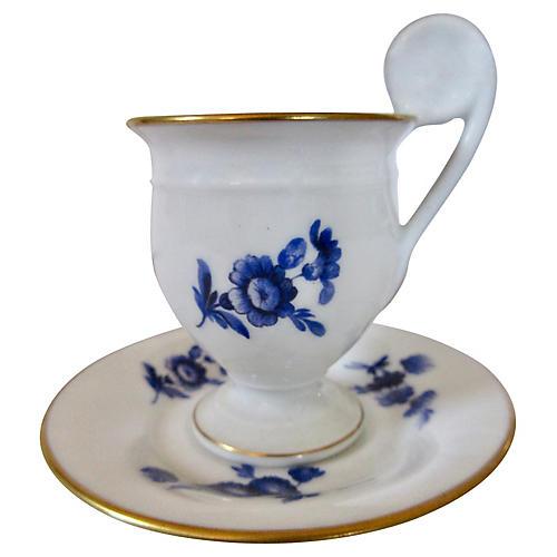 Ginori Porcelain Espresso Cup & Saucer