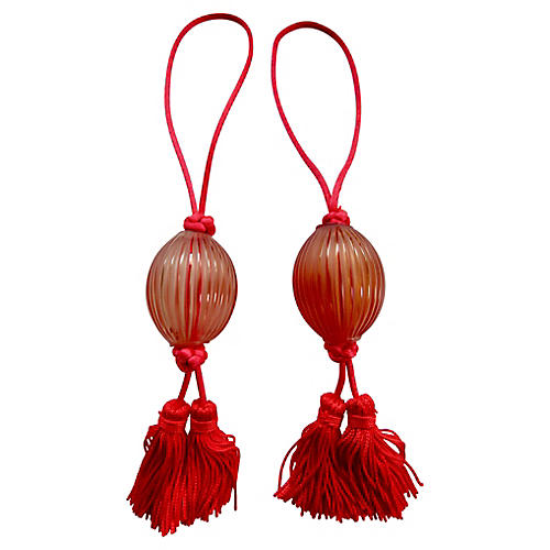 Lalique French Crystal Tassel Pulls